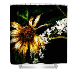 Shower Curtain featuring the digital art The End Of Summer by Cameron Wood