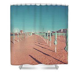 The End Of Summer Season  Shower Curtain