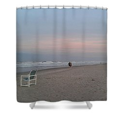 The End Of The Day Shower Curtain by Veronica Rickard