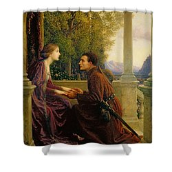 The End Of The Quest Shower Curtain by Sir Frank Dicksee