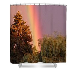 The End Of The Rainbow Shower Curtain by Karen Molenaar Terrell