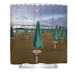 The End Of The Season In Rimini Shower Curtain