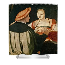 The Engagement Shower Curtain by Lucas van Leyden