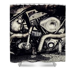 Shower Curtain featuring the photograph The Engine by Ari Salmela