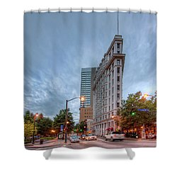 The English--american Building. Atlanta Shower Curtain