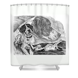 The English Major - English Pointer Dog Shower Curtain