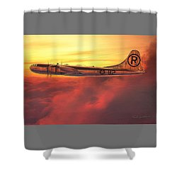 Enola Gay B-29 Superfortress Shower Curtain by David Collins