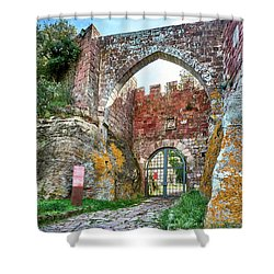 The Entrance To The Monastery Of Escornalbou Shower Curtain