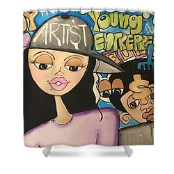 The  Entrepreneurs Mural Shower Curtain