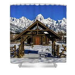 Shower Curtain featuring the photograph The Episcopal Chapel Of The Transfiguration by TL Mair