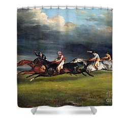 The Epsom Derby Shower Curtain by Theodore Gericault