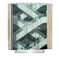 Shower Curtain featuring the photograph The Escalators by Colin Rayner