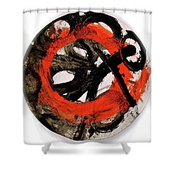 Shower Curtain featuring the painting The Escape Velocity Of Zen-or Metaphysics At A Glance by Cliff Spohn