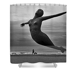 The Estranged Ocean Shower Curtain