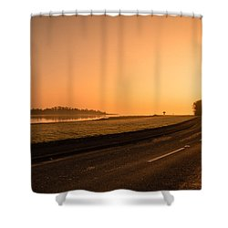 The Estuary Road Shower Curtain by Martina Fagan