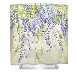 The Ethereal Wisteria Shower Curtain