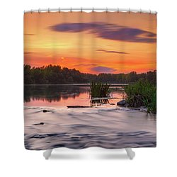 The Eve On The River Shower Curtain