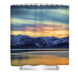 The Evening Colors Shower Curtain by Mitch Shindelbower