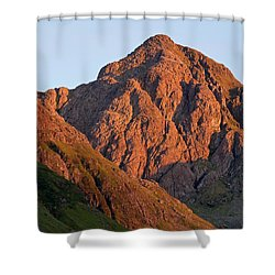 The Evening Light Hits Bidean Niam Ban Shower Curtain