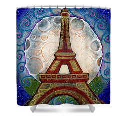 The Evening Of A Ready-wish Upon A Parisian High Point Shower Curtain