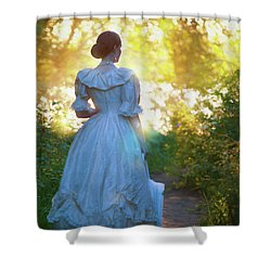 The Evening Walk Shower Curtain by Lee Avison