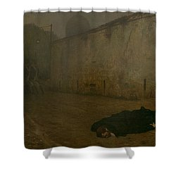 The Execution Of Marshal Ney Shower Curtain by Jean Leon Gerome