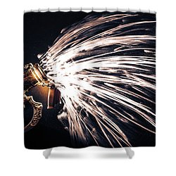 The Exploding Growler Shower Curtain by David Sutton