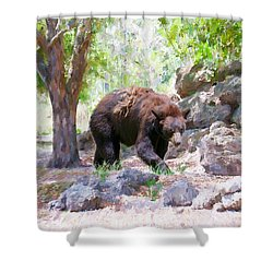 Shower Curtain featuring the painting The Exploration by Judy Kay