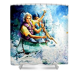The Explorers Shower Curtain by Hanne Lore Koehler