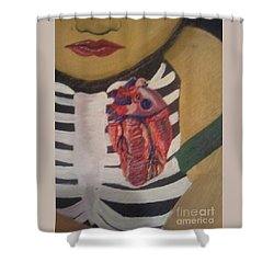 The Exposed Heart Of An Angel Shower Curtain by Talisa Hartley