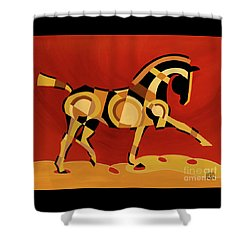 The Extension Of Equus Shower Curtain