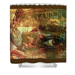 The Eye Maker Shower Curtain by Michael Cinnamond