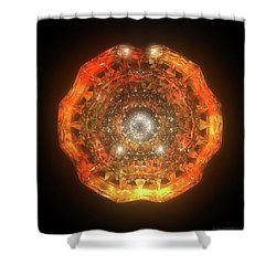 The Eye Of Cyma - Fire And Ice - Frame 160 Shower Curtain