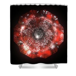 The Eye Of Cyma - Fire And Ice - Frame 50 Shower Curtain