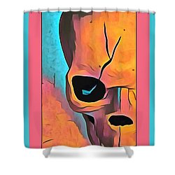 Shower Curtain featuring the digital art The Eye Of Death Abstract Skull by Floyd Snyder