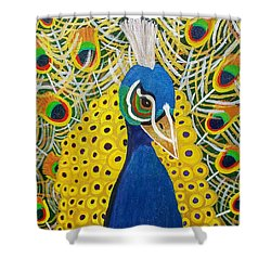 The Eye Of The Peacock Shower Curtain
