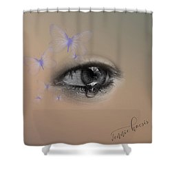 The Eyes Don't Lie Shower Curtain
