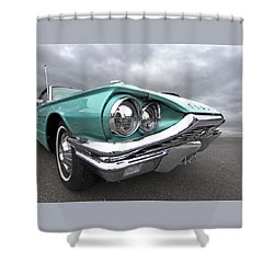 Shower Curtain featuring the photograph The Eyes Have It - 1964 Thunderbird by Gill Billington