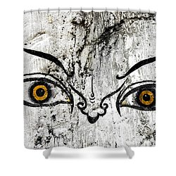 The Eyes Of Guru Rimpoche  Shower Curtain