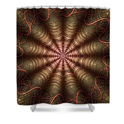 The Fabric Of The Space-time Continuum Shower Curtain