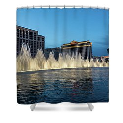The Fabulous Fountains At Bellagio - Las Vegas Shower Curtain