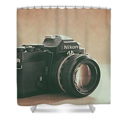 Shower Curtain featuring the photograph The Fabulous Nikon by Ana V Ramirez