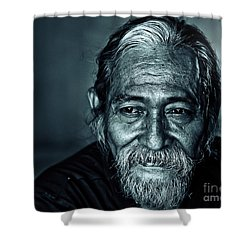 The Face Shower Curtain by Charuhas Images