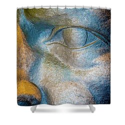 The Face Is A Picture Of The Mind With The Eyes As Its Interpreter. Cicero Shower Curtain