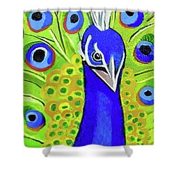 The Face Of A Peacock Shower Curtain