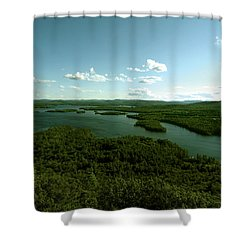 The Face Of Squam Shower Curtain by Rick Frost