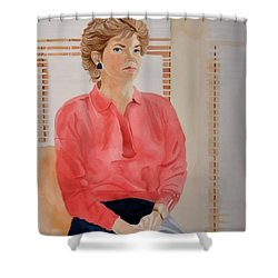 The Face Series - Pamela Shower Curtain