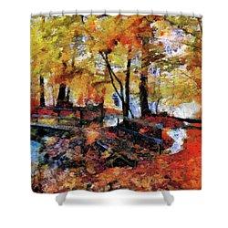 The Failing Colors Of Autumn Shower Curtain