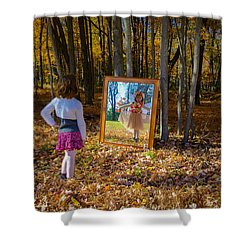 The Fairy In The Mirror Shower Curtain