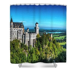 The Fairy Tale Castle Shower Curtain by Pravine Chester